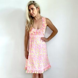 Lilly Pulitzer Vintage Pink & Yellow Floral Dress